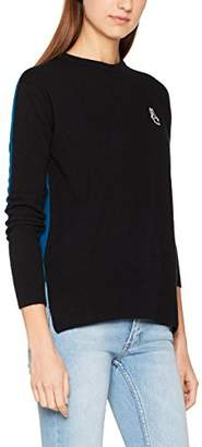 Peter Jensen Women's Two Tone Crew Neck Jumper,8 (Manufacturer Size: X-Small)