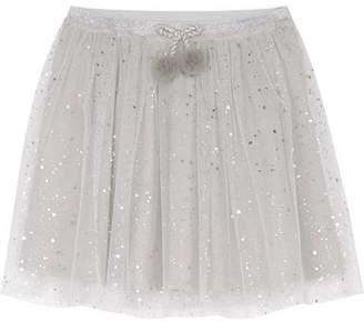 49d4f78023 Mint Velvet Silver Foil Tulle Tutu Skirt