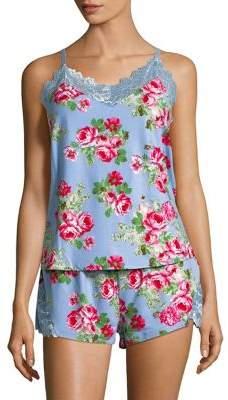 Flora Nikrooz Flora By Two-Piece Floral Printed Pajama Set