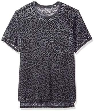 GUESS Men's Short Sleeve Myer Leopard Crew