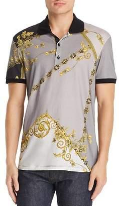 Versace Barocco Color-Block Polo Shirt
