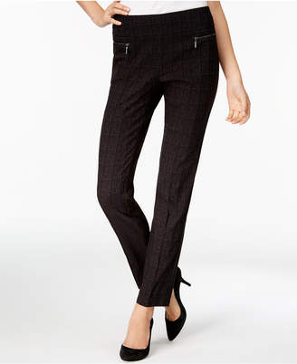Style&Co. Style & Co Plaid Skinny Pants, Created for Macy's