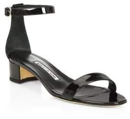 Manolo Blahnik Chaflahi Leather Sandals