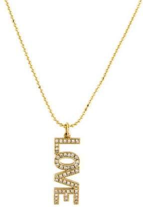 Jennifer Meyer 18K Diamond 'LOVE' Pendant Necklace