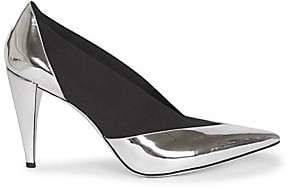 Givenchy Women's Metallic Leather Elastic Pumps