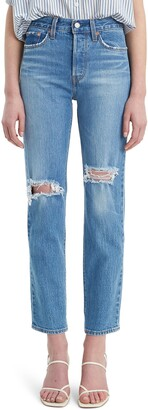 Levi's Wedgie Icon Fit Ripped Straight Leg Jeans