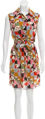 Anna Sui Floral Print Sleeveless Dress w/ Tags