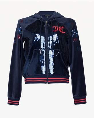 Juicy Couture Luxe Sequin Velour Robertson Jacket