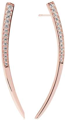 Amalfi by Rangoni Sif Jakobs Sterling Silver 18ct Rose Gold Plated Earrings with Cubic Zirconia