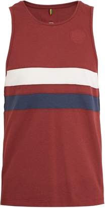 IFFLEY ROAD Lancaster striped-piqué running tank top