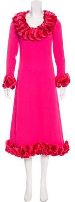 Saint Laurent Long Sleeve Midi Dress