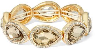 MONET JEWELRY Monet Brown Stone and Gold-Tone Stretch Bracelet