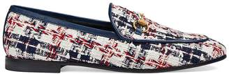Gucci Women's Checked Tweed Loafers