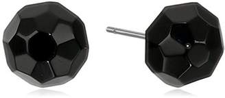"Carolee Jet Basics"" Jet Faceted Bead 8mm Jet Bead Stud Earrings"