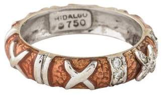 Hidalgo 18K Diamond X Enamel Ring