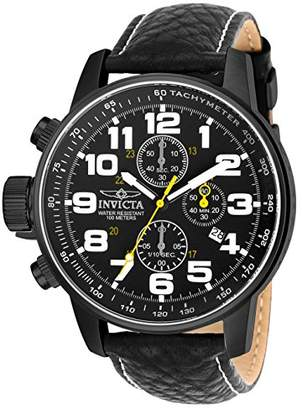 Invicta Men's 3332 Force Collection Stainless Steel Left-Handed Watch with Leather Band