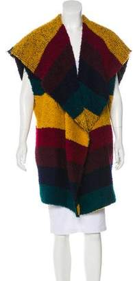 Alice + Olivia Virgin Wool-Blend Colorblock Cardigan