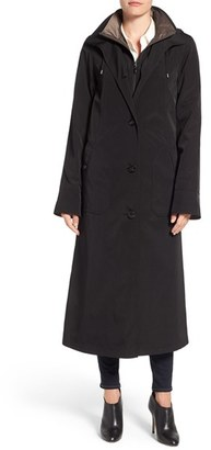 Gallery Full Length Two-Tone Silk Look Raincoat $258 thestylecure.com