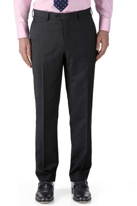 Charles Tyrwhitt Charcoal Classic Fit Twill Business Suit Wool Pants Size W32 L38