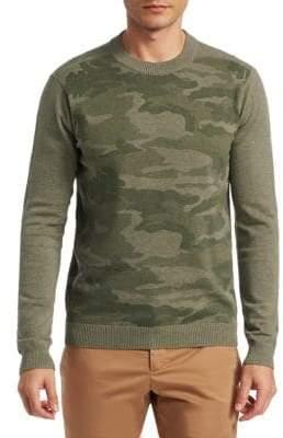 Saks Fifth Avenue MODERN Camo-Print Crewneck Sweater