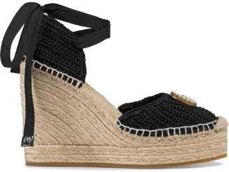 Gucci Crochet platform espadrilles