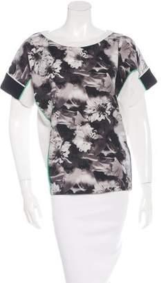 Barbara Bui Floral Short Sleeve Top