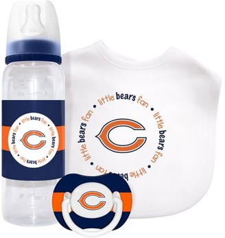 Baby Fanatic Chicago Bears 3 Piece Baby Gift Set