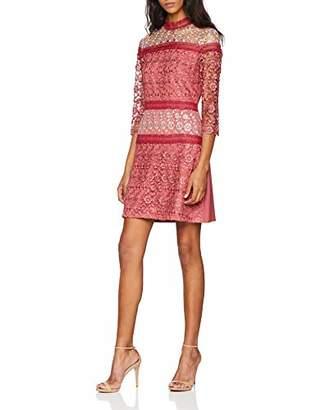 Little Mistress Women's Berry Crochet Shift Dress