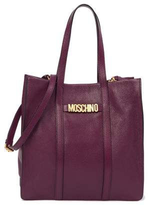Moschino Leather Brand Logo Tote Bag