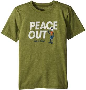 Life is Good Peace Out Jake Cool Tee Boy's T Shirt