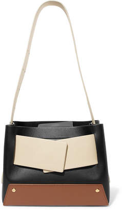 Yuzefi - Biggy Color-block Textured-leather Tote - Black