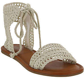 Mia Shoes Flat Ankle-tie Sandals - Belkis