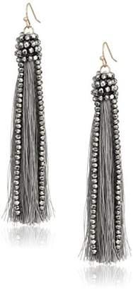 Panacea Hematite Tassel Drop Earrings