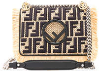 Fendi Small Raffia Trim Logo Embroidered Kan I Logo
