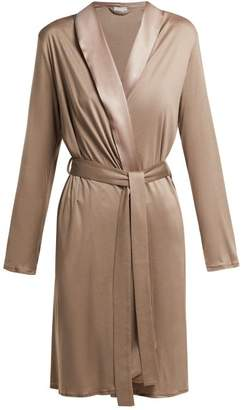 Hanro Grand Central Jersey Robe - Womens - Dark Beige