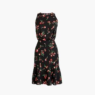 J.Crew Tall ruched-waist dress in falling floral