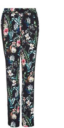 Hallhuber Crãape Trousers With Tropical Print