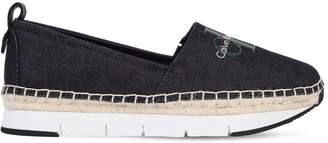 Calvin Klein Jeans 30mm Genna Cotton Canvas Sneakers