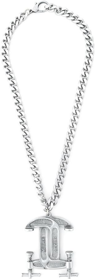 Moschino Moschino interlocking C-clamp necklace