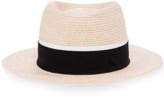 Maison Michel Andre Straw Trilby Hat