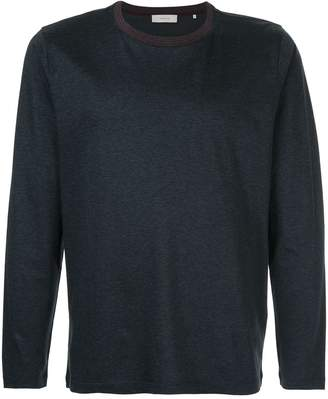 Cerruti stripe detail long sleeve T-shirt