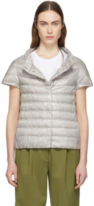 Herno Taupe Down Greta Short Sleeve Jacket