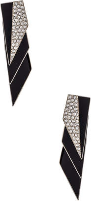 Saint Laurent Layered Art Deco Earrings