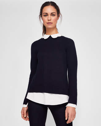 Ted Baker BRONWEN Scallop collar sweater