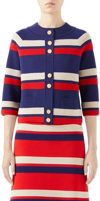 Gucci Stripe Wool Cardigan