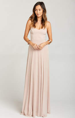 Show Me Your Mumu Godshaw Goddess Gown ~ Dancing Queen Shine Blush