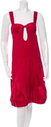 Stella McCartney Cutout Silk Dress