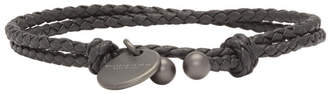 Bottega Veneta Black Intrecciato Double Strand Bracelet