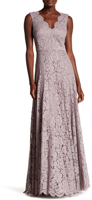 Vera Wang Double V Lace Gown $448 thestylecure.com