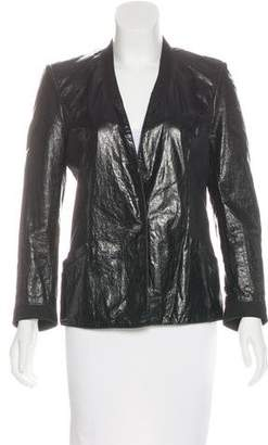 Helmut Lang Leather Button-Up Jacket